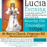 Santa Lucia Evening, Primrose Hill – 17th December